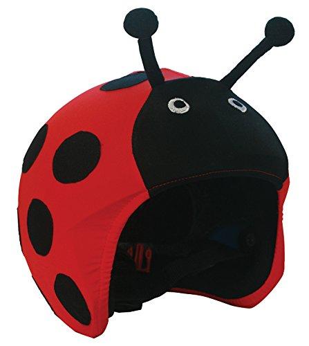 Cool Casc Animals Ladybug Protection de Casque Jeunesse Unisexe, Noir et Rouge, Taille Unique