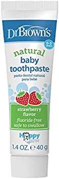 Dr. Brown's Baby Toothpaste, Strawberry Flavor, 40g