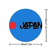 マウスパッド 丸型 ファッション 滑り止め ゴム製裏面 柔軟 かわいい ゲーミング オフィス PC作業に対応 個性的 おしゃれ Japan 日本の太陽旗