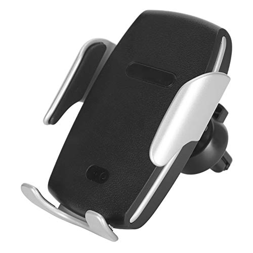 Cargador de teléfono inalámbrico para automóvil, soporte de carga inalámbrico para automóvil de autoinducción ajustable de 10 W, soporte para teléfono inteligente de 3,5 a 6 pulgadas, abrazadera con c