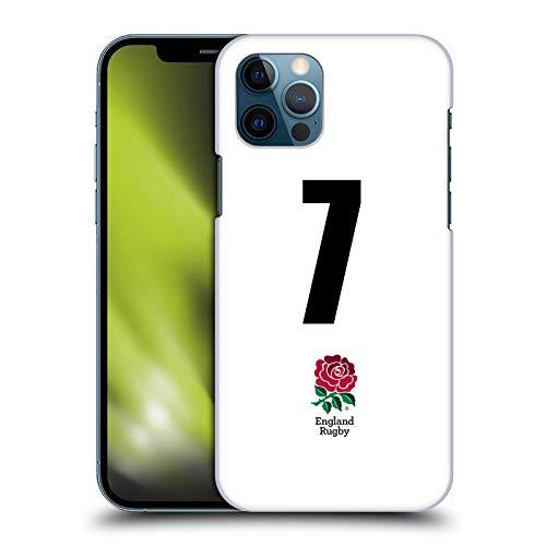 Head Case Designs Official England Rugby Union Posición 7 Kit casa 2016/17 Carcasa rígida Compatible con Apple iPhone 12 / iPhone 12 Pro