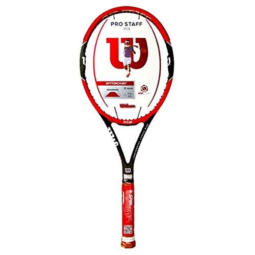 Chunjiao Raqueta de Tenis Clásico for Adultos de los niños de Fibra de Carbono Estándar Head Profesional (Color : Red-a, Size : 69cm/27.6 Inches)