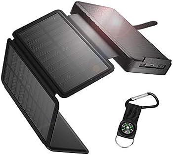 IEsafy 26800mAh Solar Power Bank with 4 Foldable Solar Panels