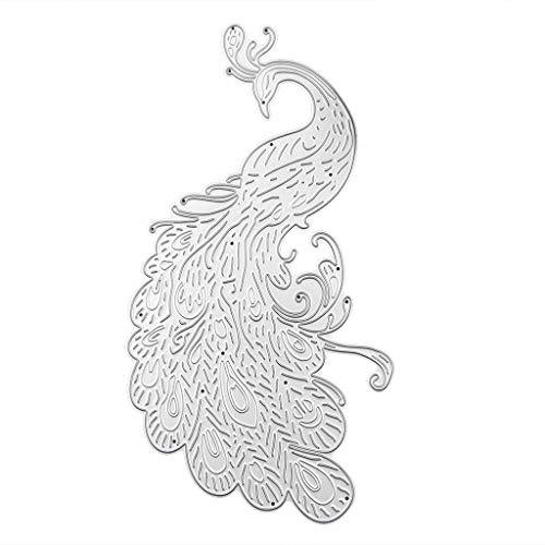 GUOQIAO✯Pfau Metall Stanzformen Schablone Scrapbooking DIY Album Briefmarkenpapier