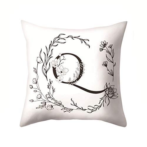 HINK Patrón de Letras Funda de Almohada Sofá Funda de cojín para Coche Throw Pillow Decoración del hogar, Funda de Almohada del día de San Valentín
