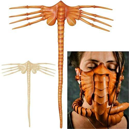 MINSENPIJU Halloween Horror Party Gruselige Gesichtsbedeckung Skorpion Latex Maske Alien Facehugger - Cosplay Kostüm Halloween Latex Krallen Insekten Requisiten für Erwachsene Party Dekoration