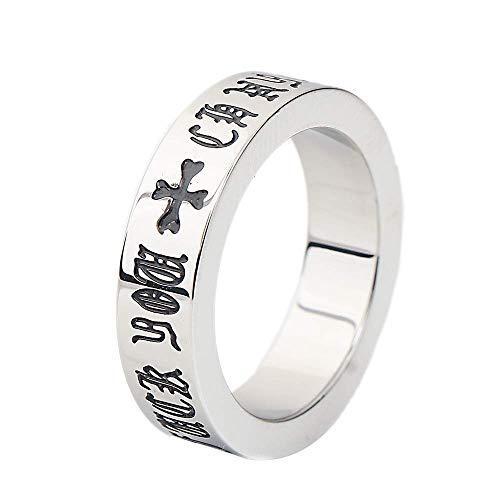 Onefeart titanium ring voor mannen jongens romannen retro stijl