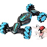 Leobtain Remote Control Stunt Car, Christmas 2.4G 4WD Stunt RC Car Gesture Sensing Twisting Vehicle Drift Car Driving Toy Gifts, for 3 4 5 6 7 8-12 Year Old Boy Toys -