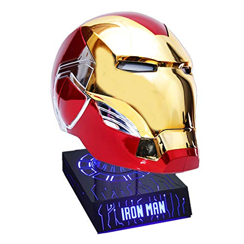 GYMAN Superhroe Iron Man Casco 1: Interruptor del Sensor Tctil Mscara Usable 1 Relacin con El Saludo De Voz para Halloween Regalo De Cumpleaos Cosplay Prop,Blue Bracket