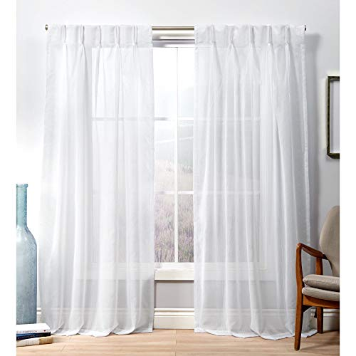 """Exclusive Home Curtains Penny PP Curtain Panel, 96"""" Length, Winter White"""