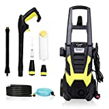 Stream Upgraded 2200W 165Bar 330L/H Pressure Washer Electric Portable Lightweight Power Washer Patio Cleaner with Accessories, Car/Patio/Yard Washing Machine for Home Garden Patio Driveways