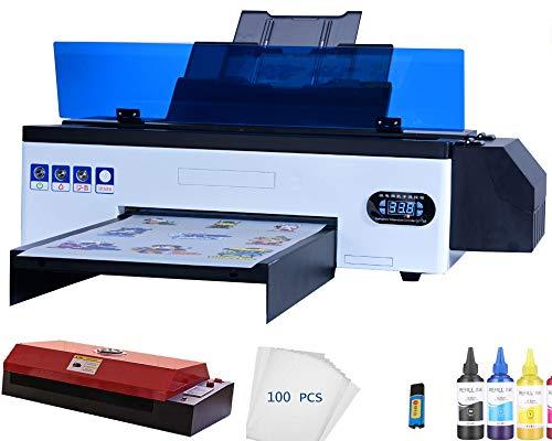 DTF L1800 Printer A3 Heat Transfer PET Film Printer for Dark w Light T-Shirt...