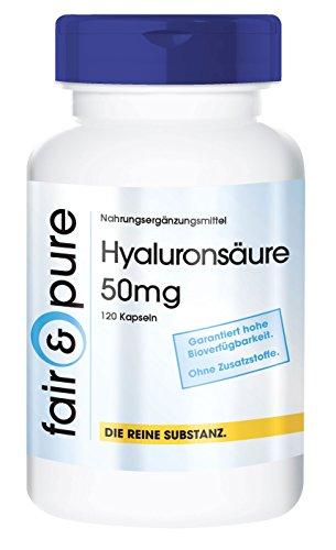 Ácido hialurónico en Cápsulas 50mg - Fermentado y vegano - Puro - 120 Cápsulas