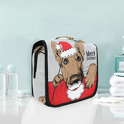 Make-up cosmetische tas kerst dier Duitse herder hond draagbare opslag reizen toilettas