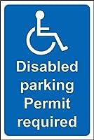 障害の駐車許可証は、金属サインで安全標識をサイン