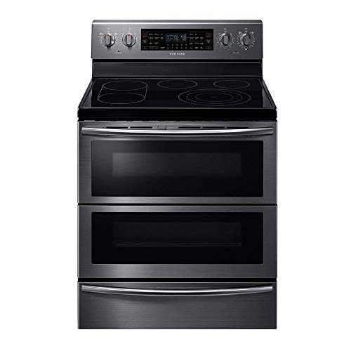 """Samsung NE59J7850WG 30"""" Black Stainless Steel Electric Smoothtop Double Oven Range - Convection"""