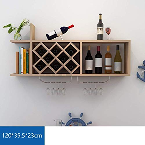 LG-ZWHL Estante For Vino De Montaje En Pared - Estante For Vino De Decoración - Soporte For Copa De Vino De Vidrio - Barra De Cocina For El Hogar - Pared For El Hogar De La Barra (Color : H)