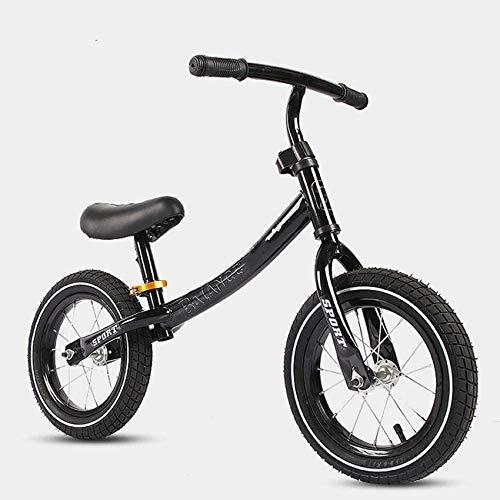 Mnjin Scooter per Bambini di età compresa tra 6-300 Balance Bike per 2-6 anni Ragazzi Ragazze Telaio in Acciaio al carbonio, Senza pedali Balance Bike, 12rdquo;Bicicletta da Allenamento per Bambi