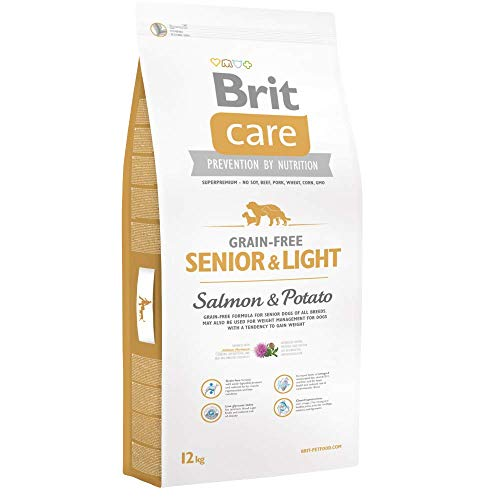 Brit Care Senior & Light Salmon & Potato getreidefrei Hundefutter, 12kg