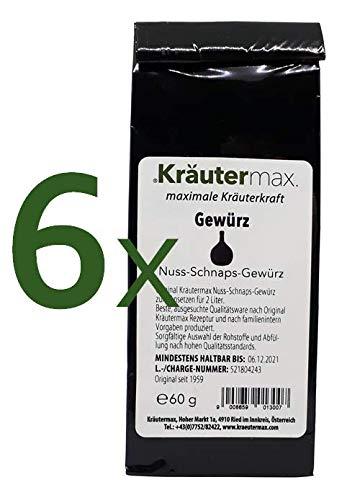 Nuss-Schnaps Gewürz 6 x 60 g für 12 Liter zum Selber Machen
