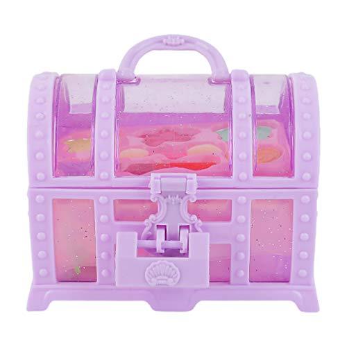 Tomaibaby Juego de Maquillaje para Niñas Juego de Princesa Caja de Juguetes para Niños Caja de Cosméticos para Niñas Kit de Disfraces de Viaje para Niños Pequeños ( Color Aleatorio )