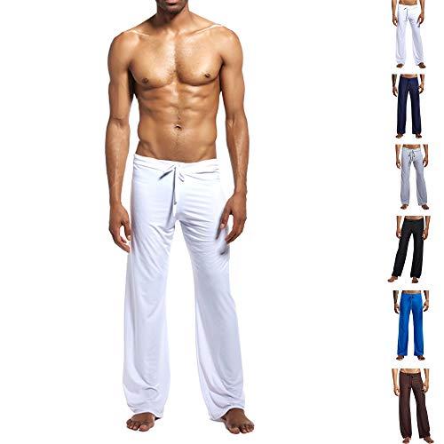 Snaked Cat Pantalones deportivos sueltos para hombre con cuerda elástica en la cintura, pantalones de piyama de seda suave hielo