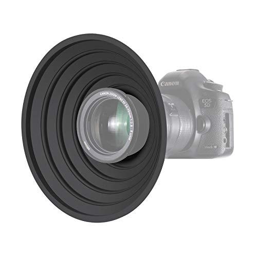 Neewer Paraluce Antiriflesso per Fotocamera Reversibile Pieghevole con Attacco Filettato per Fotocamere Digitali, Adatto a Obiettivi con Filettature 7