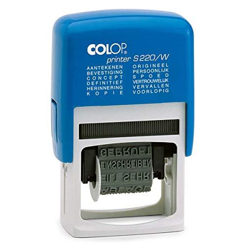 Colop Printer S220/W Rood | Boekhoud woord stempel bestellen | Stempel met draaibare woorden | Stempelfabriek.nl