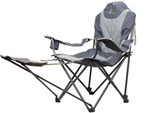 Portal, zusammenklappbar, tragbar, Unisex, Portal Outdoor-Sessel, zusammenklappbar, tragbar, stabil, bequem und inklusive Tragetasche, unterstützt bis zu 120 kg, grün, Einheitsgröße