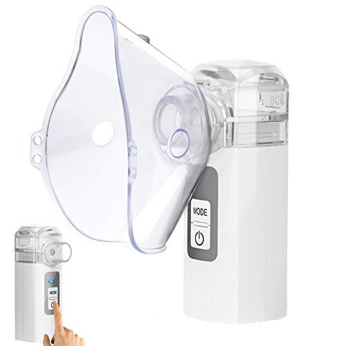 MAYLUCK Handheld Portable Inhaler Ultrasonic Nebuliser Strong Mist for Baby Kids Adults