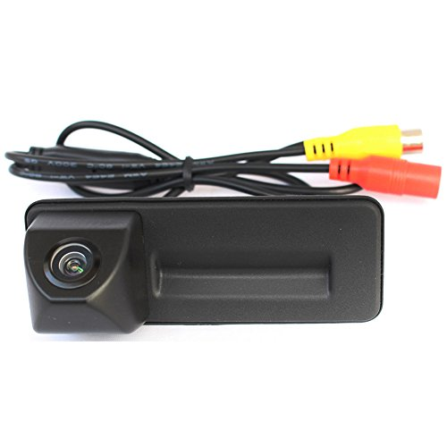 Wasserdicht 170° umkehrbare Fahrzeug-spezifische Griffleiste Kamera integriert in Koffergriff Rückansicht Rückfahrkamera für Skoda Audi A1 A1 VW Skoda Roomster Fabia Yeti Octavia II 1Z 2