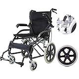 WZB - Silla de Ruedas Silla de Ruedas Plegable, Carrito para discapacitados, Silla de Ruedas Ligera y autopropulsada para Personas discapacitadas y maduras