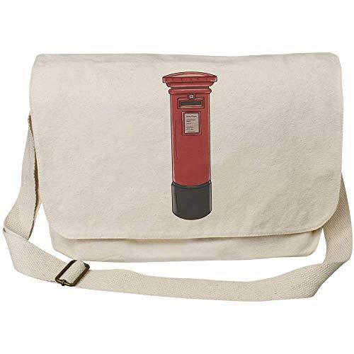 Azeeda 'Post Box' Cotton Canvas Messenger Bag (MS00030823)