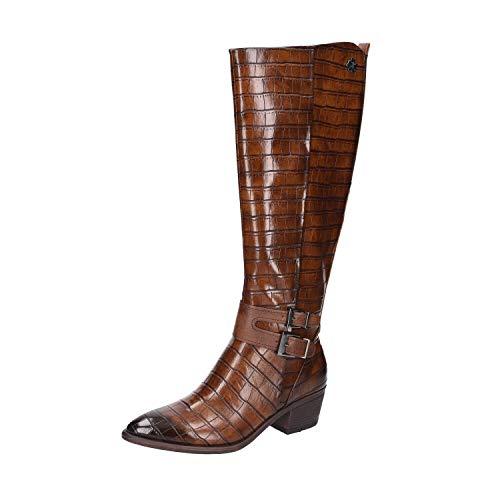 MARCO TOZZI Damen by Guido Maria Kretschmer Langschaftstiefel 2-2-85500-25 Kniehohe Stiefel, Cognac Croco, 39 EU