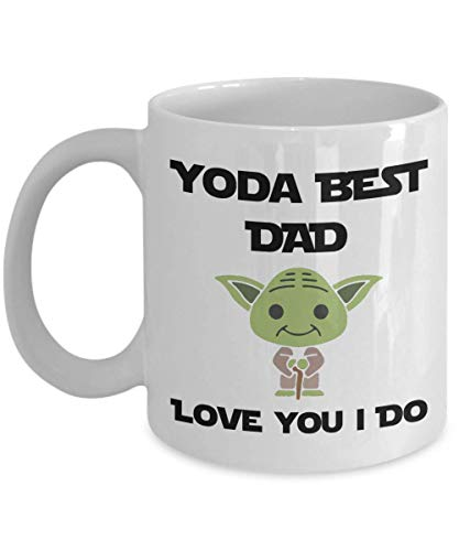 Funny Gift For Dad Birthday, Yoda Best Dad Mug, From Daughter To Father Gifts, Husband Coffee Mug From Wife, Birthday Present From Son