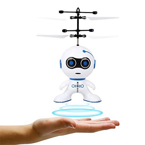 DJFEI Elektrischer Infrarotsensor Fliegender Roboter, Mini Induktions Fliegender Roboter 2CH Gyro Helicopter Drone...