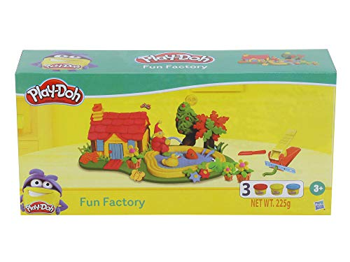 PLAY-DOH Fun Factory Toolset Arts and Crafts Toy for Kids 3 Years and Up with 3 Non-Toxic Colors