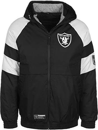 New Era NFL Oakland Raiders Puffer Winterjacke Herren schwarz/weiß, S