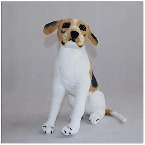KUPR Garden Sculptures & Statues Beagle Boxer Pug Dalmatian Wolfhound Throwing Pillow Plush Toy Animal Home Decoration 55Cm Yellow White