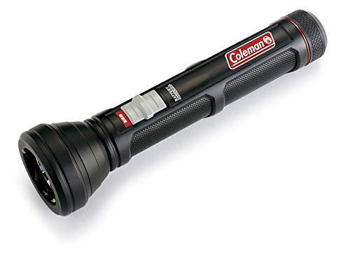 Coleman Clm02 UK Linterna LED (750 lúmenes, luz de Alta Potencia, para Interior y Exterior, 6 Pilas AA Incluidas, Linterna pequeña, Color Negro