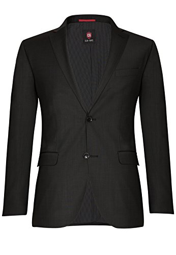 CG CLUB of GENTS -Andy SS 20 - 023S0,Herren Regular Fit AnzugJacke, Schwarz (Schwarz 90), Gr. 50