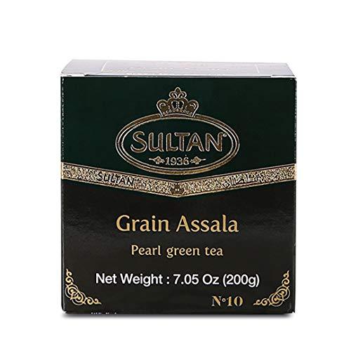 SULTAN TEA Marokkanischer Assala Loser grüner Tee Kräutertees (Einzelpackung-200g)