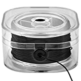 AIEX Elastic String Stretchy Beaded Bracelet Thread with Bead Cord Box for Jewelry Bracelet Necklace Making (Black, 30m/Roll)