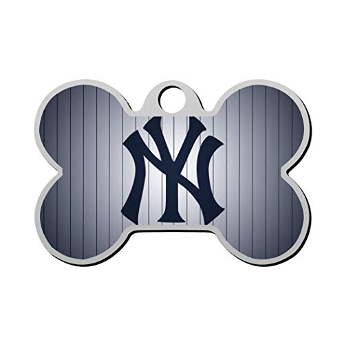 SHSH New York y-ankees Baseball Custom pet ID tag Dog Tags Pet Personalized ID Bone-Shaped Double-Sided Printing Logo Phone Number