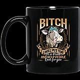 Divertida taza de café de Navidad para Halloween, perra, te pondré en un baúl y ayudaré a la gente a buscarte, novilla, taza de café de cerámica de 11 oz