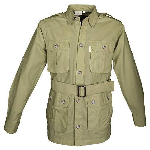 TAG Safari Jacket for Men, Lightweight, Multi Pockets, Perfect for Explorers, Photographers and Journalists