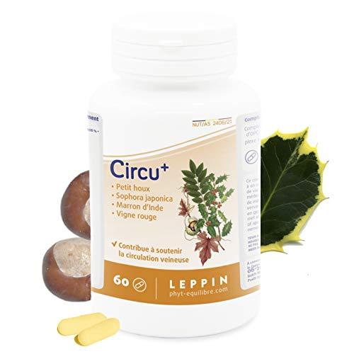Leppin, Circu Plus 60capsule, ricche di bioflavonoidi, specifiche per la circolazione venosa, per i disturbi venosi, le varici, integratori alimentari naturali