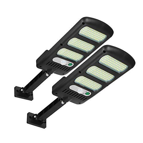 Luci solari da esterno, Freeas 213 LED Lampioni stradali ad energia solare Lampada da parete con sensore di movimento Luce di sicurezza impermeabile per esterno 2 pezzi