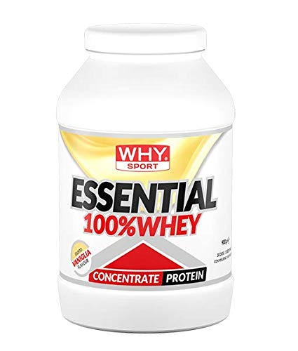 Why Sport Essential 100% Whey Concentrate Protein Gusto Vaniglia 900 Grams