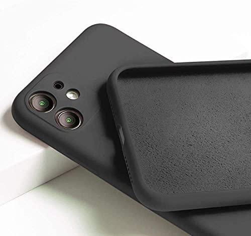 PlanetaTec Funda Silicona Compatible iPhone 11, Sedoso-Tacto Suave,protección de la cámera, a Prueba de Golpes (Negro)